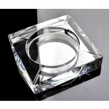 10cm ~ 25cm square K9 crystal ashtray