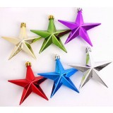 10cm 6pcs plating Christmas pointed star