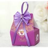 10pcs bow wedding favor box