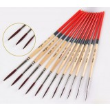 10pcs pointed nylon paintbrush set