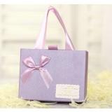 10pcs purple bow wedding favor box
