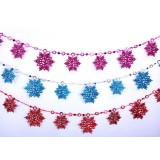 10pcs snowflake strip Christmas ornaments