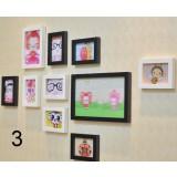 10pcs Wooden Picture Frame Set
