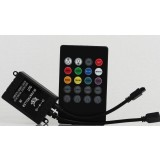 12-24V Colorful Wireless Audio Remote Controller for LED Strip Lights