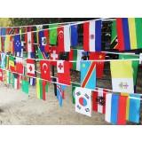 12.5M 50pcs National flags series