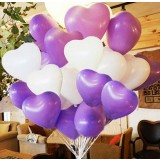 12 inch heart-shaped wedding party balloons
