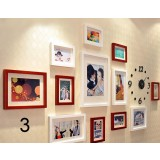 12pcs clock photo frame set