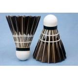 12pcs cork + black goose feather badmintons