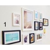 12pcs modern wood photo frame combination
