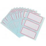 12pcs white self-adhesive labels
