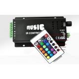 12V-24V Music RGB Wireless Controller for LED Strip Lights