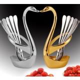 3pcs 13cm stainless steel fruit fork
