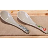 14cm classic painted ceramic spoon
