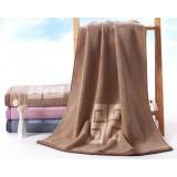 150 * 73cm Thickening satin cotton bath towel