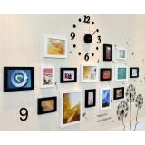 15pcs DIY creative clock + photo frames set