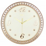 16 inches golden round wall clock