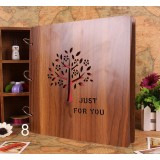 16inch wooden adhesive-type album