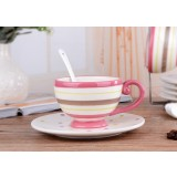 200ml classic stripes ceramic mug