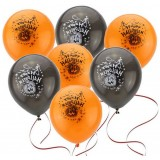 20pcs Halloween decoration balloons with patterns + inflator