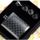 210ml Case grain stainless steel hip flask