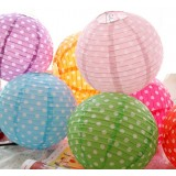 25cm small dots paper lanterns