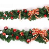 270cm red bow Christmas decoration rattan