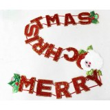 2.3M Merry Christmas letters pendant