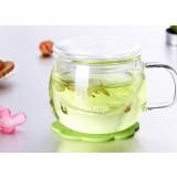 2.5mm 320ml transparent glass mug
