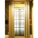 2.8m fixed width linen curtains
