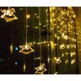 2 meters Christmas carousel 104 LED holiday lights
