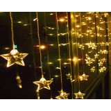 2 meters stars curtains 104 LED holiday lights