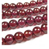 2 mm natural wine red garnet bead chain