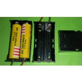 2pcs 18650 7.4V serial Battery Case