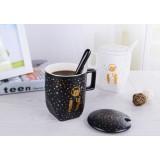 2pcs 350ml lovers ceramic mug