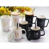 2pcs 360 ~ 400ml lovers ceramic mug