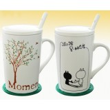 2pcs 400 ~ 500ml lovers ceramic mug