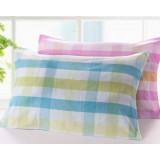 2pcs case grain cotton pillow towels