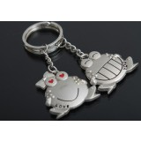 2pcs couples frog keychain