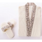 2pcs Minimalist lacing-type cotton bathrobe set