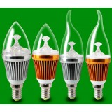 3-5W E14 PC shade LED candle bulb
