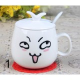 320ml cartoon faces ceramic mug
