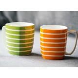 330ml classic stripes ceramic mug