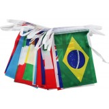 33M 100pcs different countries series flags