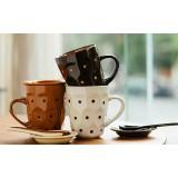 340ml personality dots ceramic mug