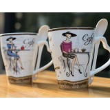 350ml creative painting ceramic mug