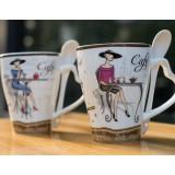 350ml creative painting ceramic mug