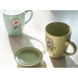 350ml floral ceramic mug