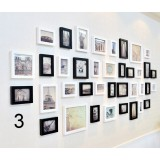 38pcs European style black and white photo frame collection