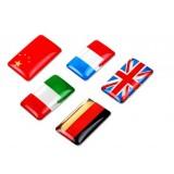 3D Aluminum soft rubber national flag stickers