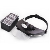 3leds adjustable head-mounted magnifying glass